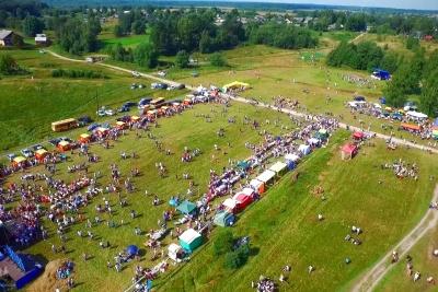 Фестиваль карельского пирога «Калитка» с высоты птичьего полёта