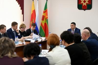 Игорь Руденя обсудил развитие Лихославльского района с главами поселений муниципалитета