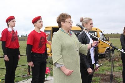 Памятный митинг в селе Залазино, посвященный 74-й годовщине Великой Победы