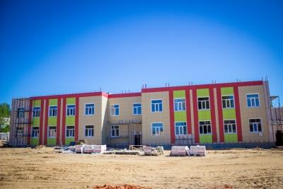 В новом детском саду в поселке Калашниково начались внешние и внутренние отделочные работы