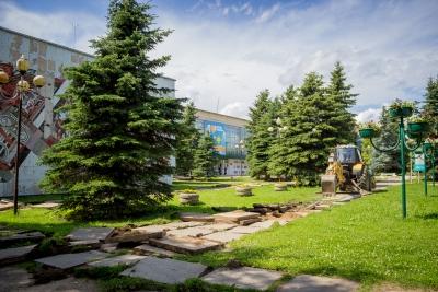 В Лихославле началась реконструкция площади РЦКиД