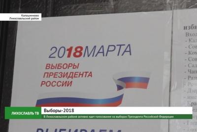 В Лихославльском районе активно идет голосование на выборах Президента Российской Федерации