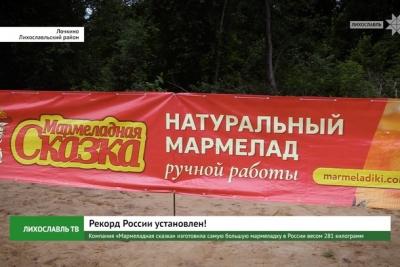Компания «Мармеладная сказка» изготовила самую большую мармеладку в России весом 281 килограмм