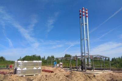 В Лихославле продолжается строительство новой модульной котельной