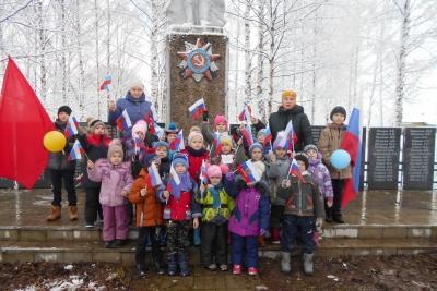 В деревне Кава прошла Всероссийская патриотическая акция «Вперед, к Победе!»