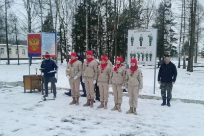Отряды «Медведи» и «Штурм» приняли участие в военно-патриотической акции «Снежный десант»