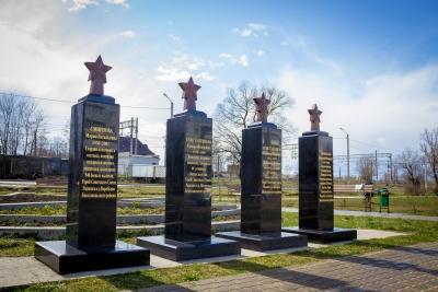 В Парке Победа установлены два новых памятных знака нашим землякам – Героям Советского союза
