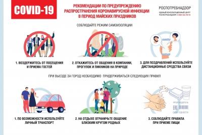 Рекомендации по профилактическим мероприятиям коронавирусной инфекции в период майских праздников
