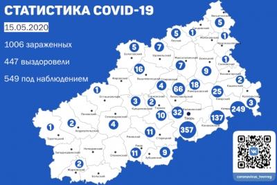 Информация оперативного штаба по предупреждению завоза и распространения коронавирусной инфекции в Тверской области за 15 мая 2020 г.