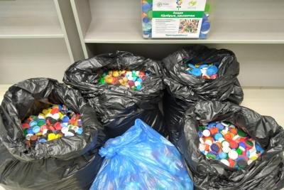 В Тверской области отправили на переработку очередную партию «добрых» крышечек — почти 15 кг