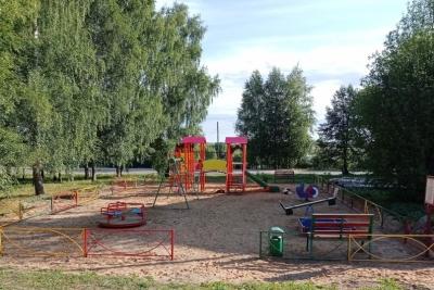 В деревне Кава появилась новая современная детская площадка