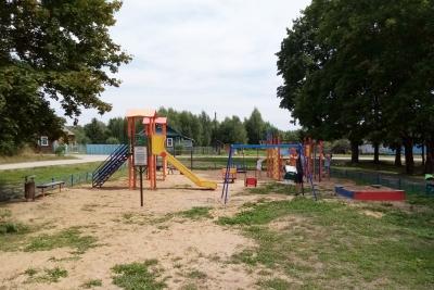 В деревне Сосновицы, в рамках ППМИ-2021, установлена новая детская площадка