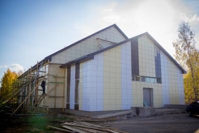В Лихославльском муниципальном округе продолжается капитальный ремонт Вёскинского Дома культуры